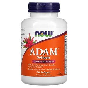 Now Foods, ADAM, эффективные мультивитамины для мужчин, 90 капсул